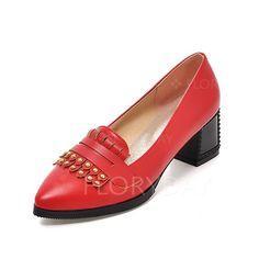 Shoes - $47.08 - Women's Pumps Heels Chunky Heel Leatherette Shoes (1625105872)