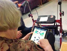 Hely ry:n Pentin tuvassa iäkkäät käyttävät iPadeja ja Apple TV:tä fysioterapeutin ohjauksella.  Syksyllä 2014 on taas uutta luvassa!