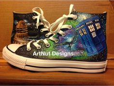 Doctor Who Custom Painted Shoes on Etsy, $95.00