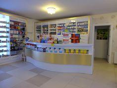Eczane Pharmacy Design, Retail Interior, Shelf Design, Liquor Cabinet, Shelves, Store, Home Decor, Shops, Ideas
