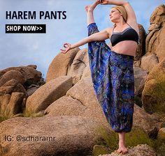 Stylish Comfy Thai Yoga & Hula Hoop Pants. Free Worldwide Shipping. Elephant Pants, Harem Pants,Harem Yoga Pants, Hippie Pants, Boho Pants,Plus Size Pants