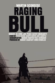 Raging Bull Movie Poster Paper or Plexiglas or by FunnyFaceArt