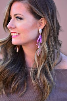 JUSTYNE STATEMENT EARRINGS IN BLUSH MIX