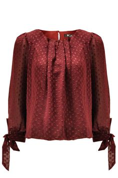 Upgrade your look this season with this spotted chiffon blouse. Team with up your favourite jeans, leggings or denim shorts. Jeans Leggings, Denim Shorts, Your Favorite, Diana, Burgundy, Chiffon, Blouse, How To Wear, Tops