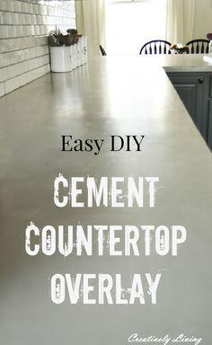 DIY Concrete Countertop Overlay by Creatively Living blog