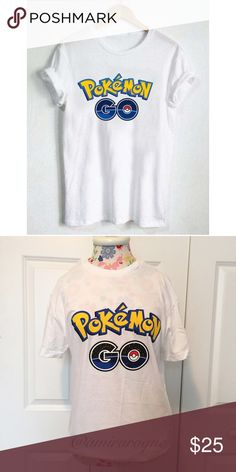 """""""Pokemon Go"""" Graphic T-shirt✨NEW Brand new did not come with tags and such but guaranteed. Retail item. I only have a small fits true to size. Bust is 18.5 inches, total length of shirt is 28 inches.  Price is firm thanks! Please let me know if you have any questions. Tops Tees - Short Sleeve"""