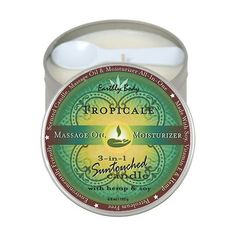 EB Massage Candle Tropicale 6.8oz Earthly Body Suntouched Candle with Hemp (6oz Tropicale)This hand poured, fragrant, natural soy oil Massage Candle burns longer   cleaner. It melts in...