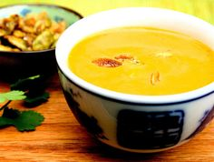 Thai Pumpkin Soup with Sweet & Salty Pumpkin Seeds |