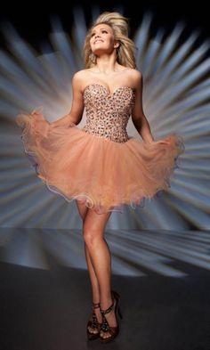 Organza A-line Sweetheart Short Formal Dresses FSAU1409P800742 - formalsydney.com
