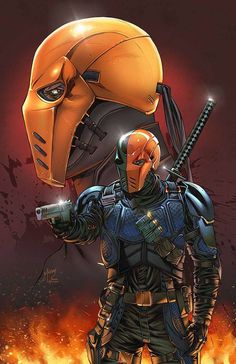 ArtStation - Deathstroke, Kevin McCoy - Visit to grab an amazing super hero shirt now on sale! Comic Book Characters, Comic Book Heroes, Comic Character, Comic Books Art, Dc Deathstroke, Deathstroke The Terminator, Deadshot, Batman Universe, Comics Universe