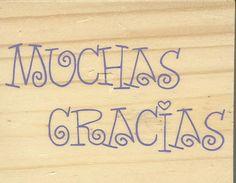 Muchas Gracias Stamp     NEW    Wood by CynthiasCraftingNook