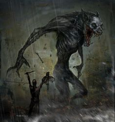 Voodoo wolf, the liberals are yours. Eat well my friend. Science Fiction, Fantasy Monster, Monster Art, Arte Horror, Horror Art, Fantasy Creatures, Mythical Creatures, Dark Fantasy, Fantasy Art