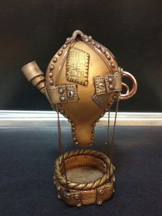 Small steam punk hot air balloon by theclaycottage, via Flickr