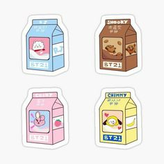 Stickers Kawaii, Pop Stickers, Anime Stickers, Tumblr Stickers, Printable Stickers, Cute Food Drawings, Bts Drawings, Kawaii Drawings, Theme Bts
