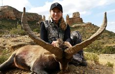Ruth Cusack with her Spanish Ibex.