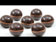 How To Make A Chocolate Sphere /Chocolate Technique - YouTube