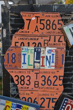 Love what they did with these old license plates!