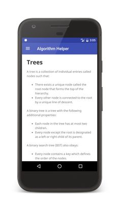 Algorithm Helper gives you simple and clear explanations for algorithms and data structures.