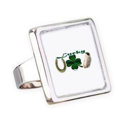 """Lucky Lucky You Ring.  To see Many more """"Lucky Lucky You"""" designs on accessories, follow this link (and GOOD LUCK)   http://www.cafepress.com/cheylines/11142891"""