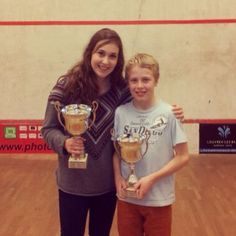 Nele retains her Belgian Junior Title in 2014, with her little brother who won the U15s