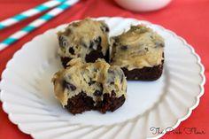 Cookie Dough Brownie Bites
