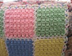 "Baby Soft Binkie freebie,  Materials: RH Soft Baby Steps Yarn 1 sk ea of Baby Pink, Baby Blue, Baby Green, Baby Yellow, White, Binky Print, G/6/4.5 mm, H/8/5.0mm crochet hooks  Blanket  Measures:  40"" x 40"""