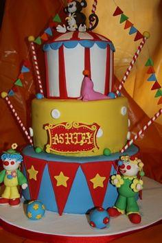 adorable circus cake