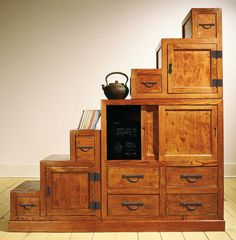 My dream home would *definitely* have a tansu chest like this one...I love them