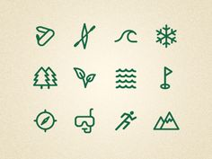 Unused icons for an outdoor experience company by Patrick Enstrom
