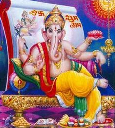Ganesha Symbolism Bring Good Luck | Below is a typical Hindu temple where followers go to worship and to ...