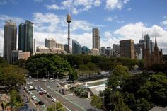 View of the City from the new Rooftop Café at the Australian Museum