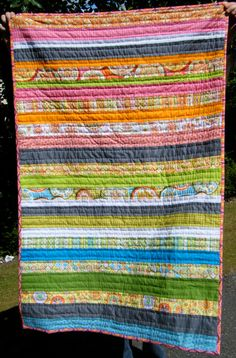 stripey quilt. quick and easy and oh so cute