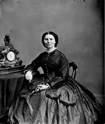 Clara Barton. Like me, she was only 5 feet tall and had a birthday in December! She forced her way onto Civil War battlefields to nurse wounded soldiers (Army brass didn't want a woman on their sacred ground--even if she brought desperately needed food, medicine, and supplies). She went on to found the American Red Cross, and served as its president for 25 years.
