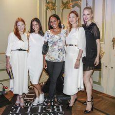 Berlin Fashion Week Girls: Johanna Kühl, Shermine Sharivar, Barbara Becker, Alexandra Fischer-Roehler, Franziska Knuppe