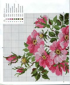 Cross stitch (part Cute Cross Stitch, Cross Stitch Bird, Cross Stitch Borders, Cross Stitch Flowers, Cross Stitch Charts, Cross Stitch Designs, Cross Stitching, Cross Stitch Patterns, Diy Embroidery