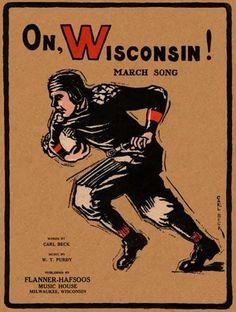 On, Wisconsin! Vintage game program. 1925. HistoricFootballPosters.com