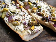 Roasted Vegetable French Bread Pizza - Budget Bytes