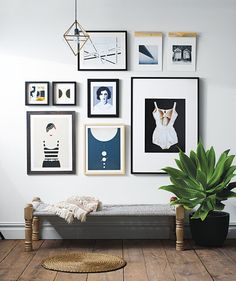 If you've had the same gallery wall up for ages, we understand if you're ready for a change. Consider letting your large artwork stand alone on a wall—or, if that's already the case in your space, try integrating it into a grouping.