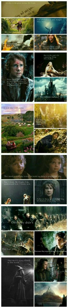 Quote be Sam in LORT but pics of the Hobbit