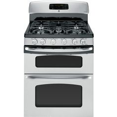 GE30-in 5-Burner 2.4 cu ft/4.3 cu ft Double Oven Convection Gas Range (Stainless Steel)  $1,899.00