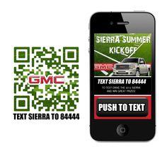 Mobile website for GMC's Sierra Summer Kickoff!