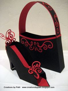 Elegant Paper Shoe and matching purse. Love it! by Patti Lee - Cards and Paper Crafts at Splitcoaststampers