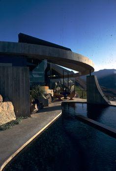 architect John Lautner's striking Elrod House (below) in Palm Springs from :James Bond Diamonds are forever
