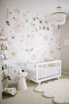 Effective Baby nursery decor ideas 12 Nursery Trends for 2017 - Project Nursery Baby Nursery Neutral, Floral Nursery, Baby Nursery Decor, Project Nursery, Nursery Room, Nursery Ideas, Girl Nursery, Nursery Murals, Nursery Furniture