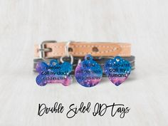 Personalized Pet Tag Celestial pet tag Cat Tag Cat Collar | Etsy Custom Pet Tags, Personalized Dog Tags, Elephant Baby Shower Favors, Dog Name Tags, Cat Id Tags, Call My Mom, Dog Id, Printing Labels, Cat Collars
