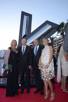 Sunreef Yachts Founder and CEO Mr. Francis Lapp with wife Katarzyna and Special Guests during the World Yacht Trophies Gala at the Cannes Yachting Festival 2014