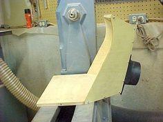 Dust collection hood for lathe. http://www.turnedwood.com/New%20Sanding%20Hood/Side.jpg