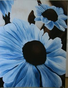 This is a painting of flowers I created for my mother, it was done in two-tone color scheme. It's pretty nice :)