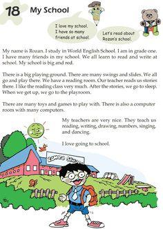 Grade 1 Reading Lesson 18 Nonfiction – My School