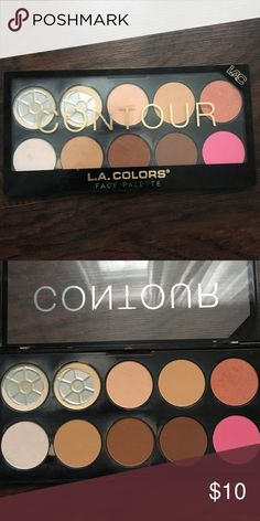 LA Colors contour and blush palette 1st two colors used mostly, the rest are full. Really great pigmentation and amazing to work with, I just have a lot of makeup and never reach for this anymore Sephora Makeup Bronzer